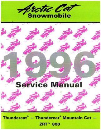 Official 1996 Arctic Cat Thundercat Thundercat Mountain Cat ZRT 800 Snowmobile Factory Service Manual