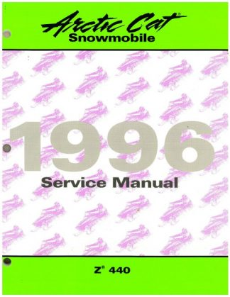 Official 1996 Arctic Cat Z440 Snowmobile Factory Service Manual