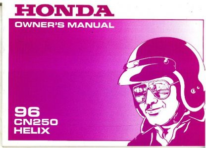 Official 1996 Honda CN250 Helix Motorcycle Factory Owners Manual