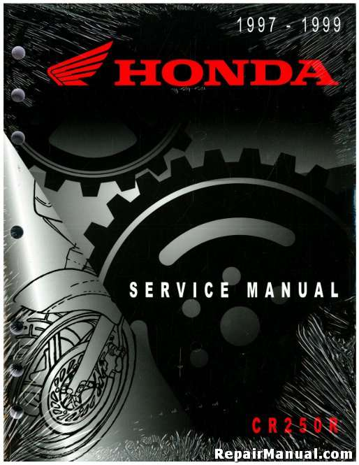 1997 1998 1999 honda cr250r motorcycle service manual rh repairmanual com honda cr250 repair manual pdf honda cr 250 service manual pdf