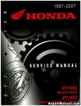Official 1997-2007 Honda VT1100C Shadow VT1100T ACE Factory Service Manual