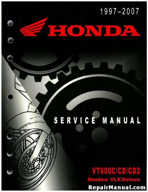 1997 2007 honda vt600c cd cd2 service manual rh repairmanual com Honda CM400 2007 Honda Shadow VLX 600