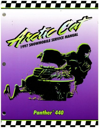 Official 1997 Arctic Cat Panther 440 Snowmobile Factory Service Manual