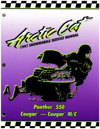 Official 1997 Arctic Cat Panther 550 Cougar Cougar Mountain Cat Snowmobile Factory Service Manual