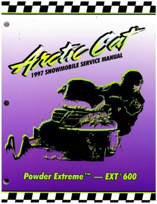 Official 1997 Arctic Cat Powder Extreme EXT 600 Snowmobile Factory Service Manual
