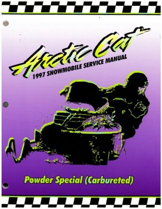 Used 1997 Arctic Cat Powder Special Carb Snowmobile Factory Service Manual