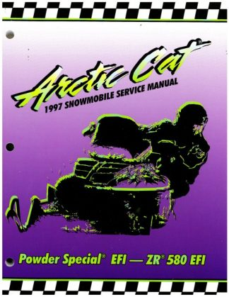 Official 1997 Arctic Cat Powder Special EFI ZR 580 EFI Snowmobile Factory Service Manual