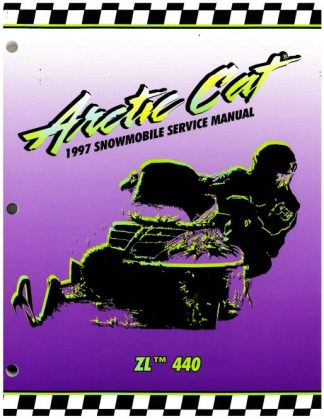 Official 1997 Arctic Cat ZL 440 Snowmobile Factory Service Manual