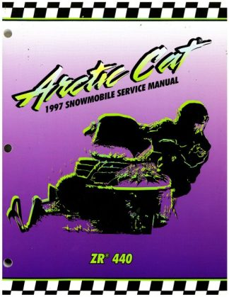 Official 1997 Arctic Cat ZR 440 Snowmobile Factory Service Manual
