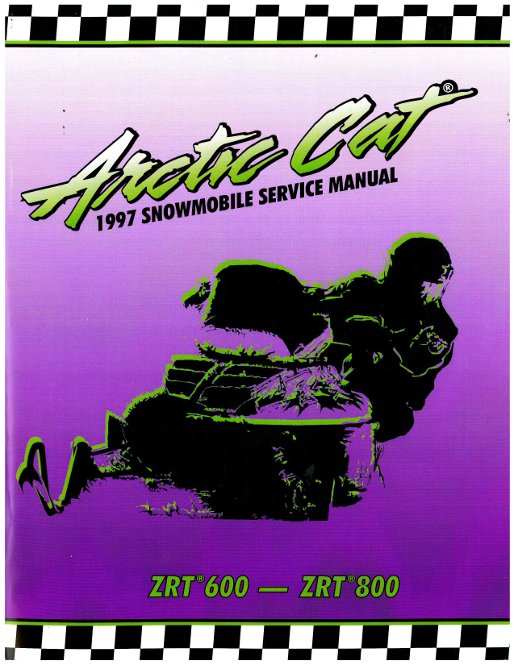 1997 arctic cat zrt 600 zrt 800 snowmobile service manual.