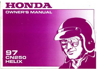 Official 1997 Honda CN250 Helix Motorcycle Factory Owners Manual