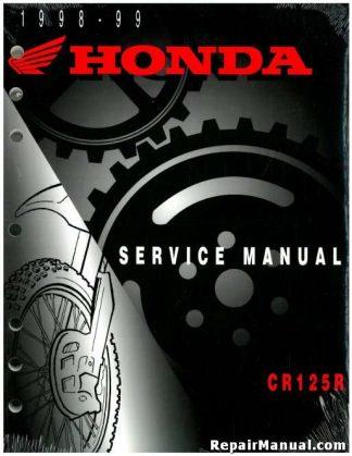 Official 1998-1999 Honda CR125R Factory Service Manual