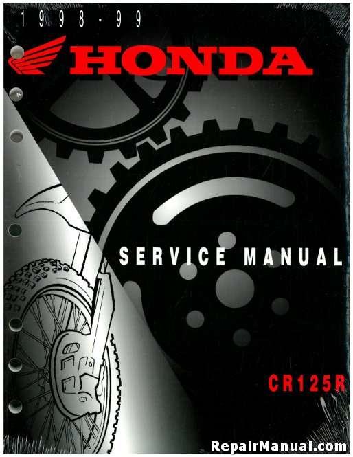 1998 1999 honda cr125r motorcycle service manual rh repairmanual com 1998 honda cr125 manual pdf 1998 honda cr125 service manual