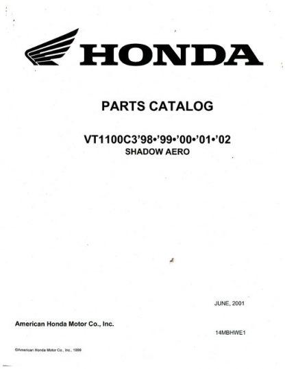 Official 1998-2002 VT1100C3 Shadow Aero Factory Parts Manual