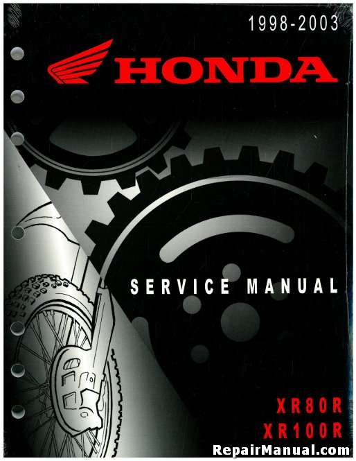 1998 2003 honda xr80r xr100r motorcycle service manual rh repairmanual com honda xr100r service manual pdf 2003 honda xr100r owners manual