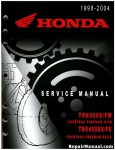 1998-2004 Honda TRX450FE FM ATV Factory Service Manual