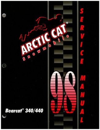 Official 1998 Arctic Cat Bearcat 340 440 Snowmobile Factory Service Manual