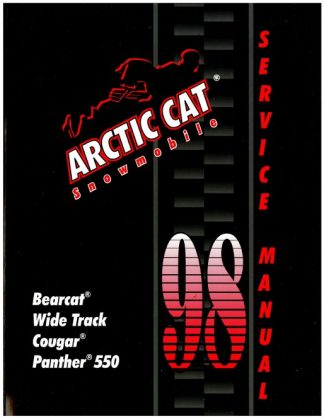 Official 1998 Arctic Cat Bearcat Wide Track Cougar Panther 550 Snowmobile Factory Service Manual