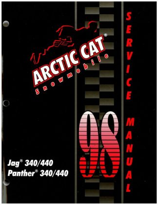 Official 1998 Arctic Cat Jag 340 440 Panther 340 440 Snowmobile Factory Service Manual
