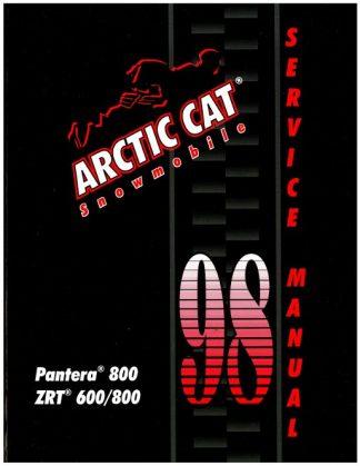 Official 1998 Arctic Cat Pantera 800 ZRT 600 800 Snowmobile Factory Service Manual