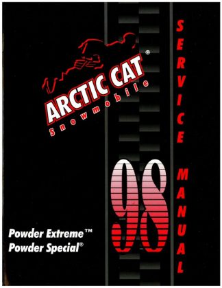 Official 1998 Arctic Cat Powder Extreme Powder Special Snowmobile Factory Service Manual