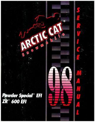 Official 1998 Arctic Cat Powder Special EFI ZR 600 EFI Snowmobile Factory Service Manual