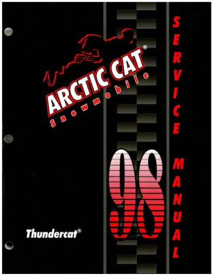 Official 1998 Arctic Cat Thundercat Snowmobile Factory Service Manual