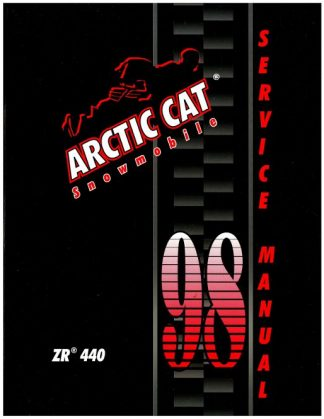 Official 1998 Arctic Cat ZR 440 Snowmobile Factory Service Manual