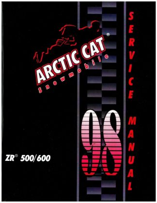 Official 1998 Arctic Cat ZR 500 600 Snowmobile Factory Service Manual
