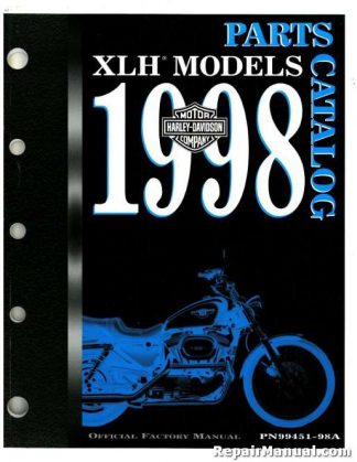 Official 1998 Harley Davidson XLH Parts Manual