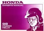 Official 1998 Honda CN250 Helix Motorcycle Factory Owners Manual