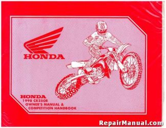 Official 1998 Honda CR250R Motorcycle Owners Manual and Competition Handbook
