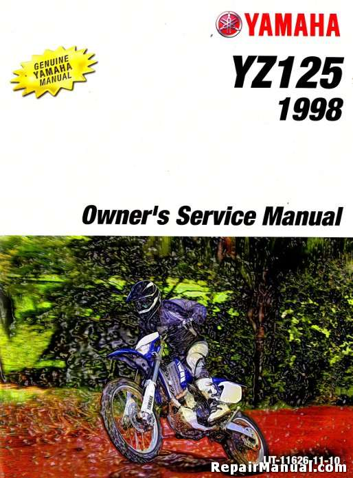 1998 yamaha yz125 motorcycle owners service manual. Black Bedroom Furniture Sets. Home Design Ideas