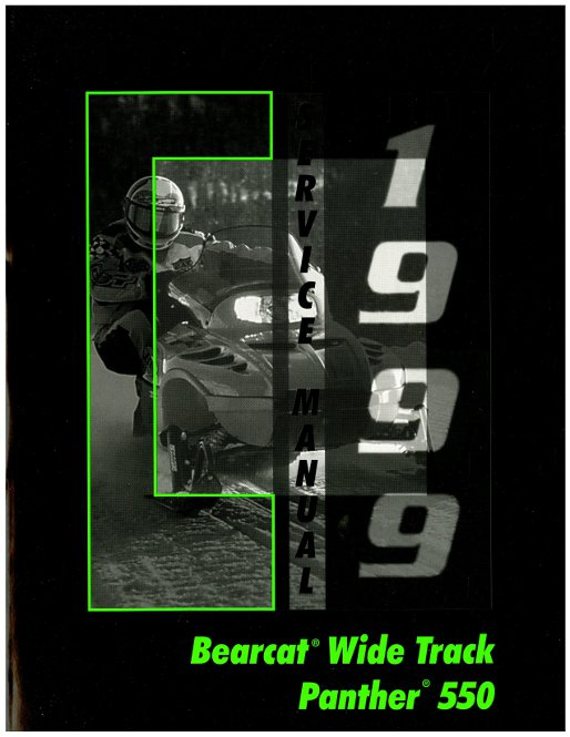 1999 Arctic Cat Bearcat Wide Track Panther 550 Snowmobile Service Manual