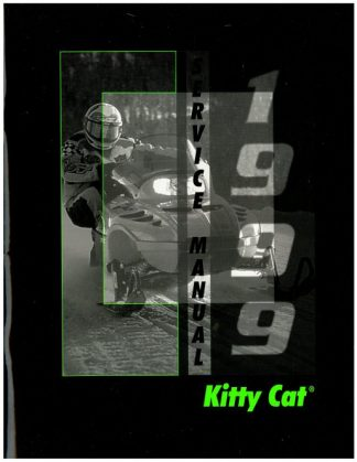Official 1999 Arctic Cat Kitty Cat Snowmobile Factory Service Manual