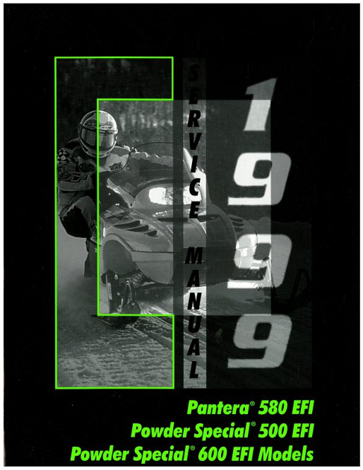 Official 1999 Arctic Cat Pantera 580 EFI Powder Special 500 600EFI 600