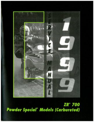 Official 1999 Arctic Cat Powder Special 600 Carb 700 700 LE ZR 700 Snowmobile Factory Service Manual