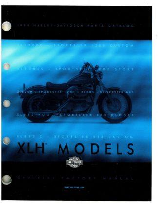 Official 1999 Harley Davidson XLH Parts Manual