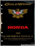 Official 1999 Honda GL1500A SE Gold Wing Factory Service Manual