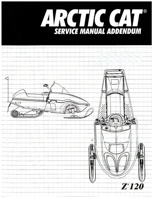 2000 arctic cat z 120 snowmobile service manual supplement rh repairmanual com arctic cat z120 owners manual Arctic Cat Parts Diagrams