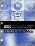 Official 2000 Harley Davidson FLT Police Parts Supplement