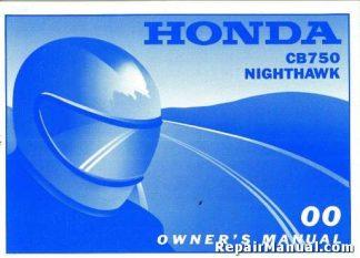 Official 2000 Honda CB750 Nighthawk Factory Owner Manual