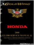 Official 2000 Honda GL1500 GOLDWING Factory Service Manual