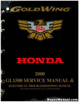Official 2000 Honda GL1500 GOLDWING Factory Service Manual