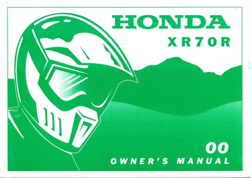 2000 honda xr70r motorcycle owners manual