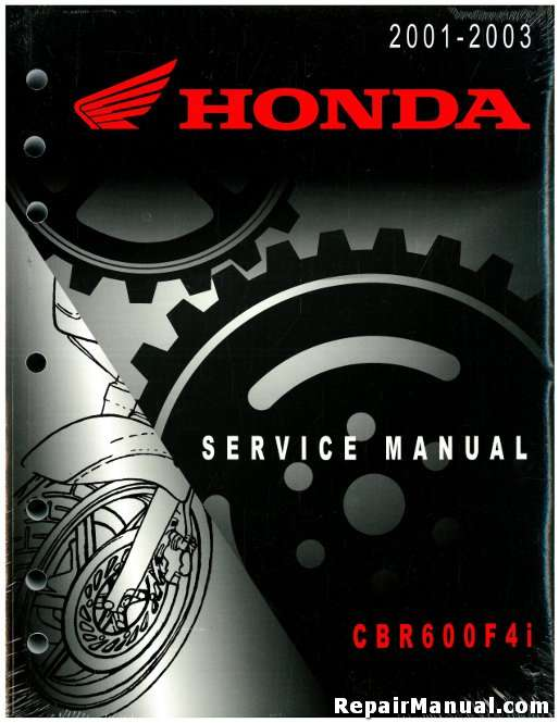 2001 2003 honda cbr600f4i service repair manual instant download