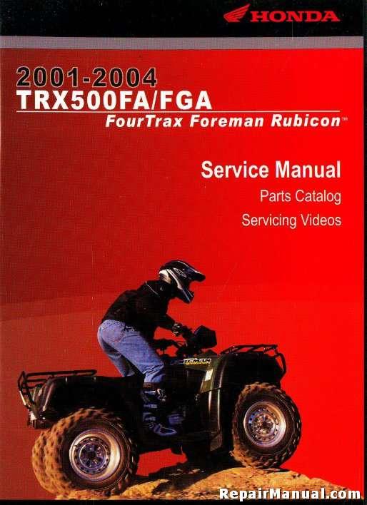 2001 2004 honda trx500fa fga repair manual cd rom rh repairmanual com