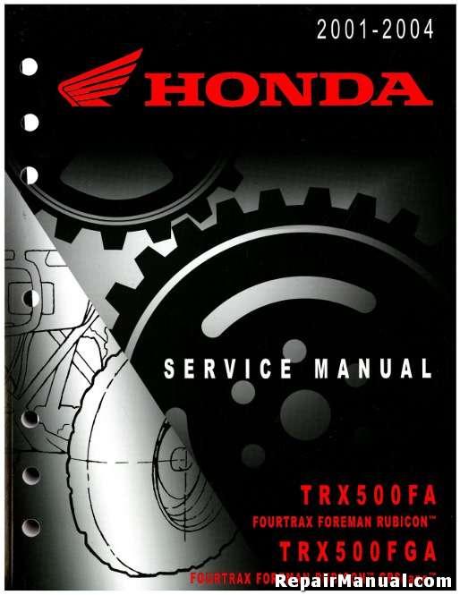 2001-2004 Honda TRX500FA FourTrax Foreman Rubicon ATV ...