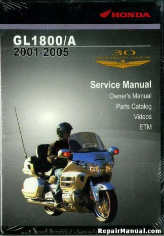 Official 2001-2005 Honda GL1800 A Factory Service Manual Electrical Troubleshooting Manual CD-Rom