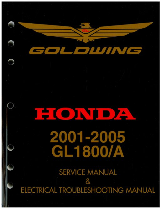 Official Honda Gl Factory Service Manual Mca T on 2002 Honda Goldwing 1800